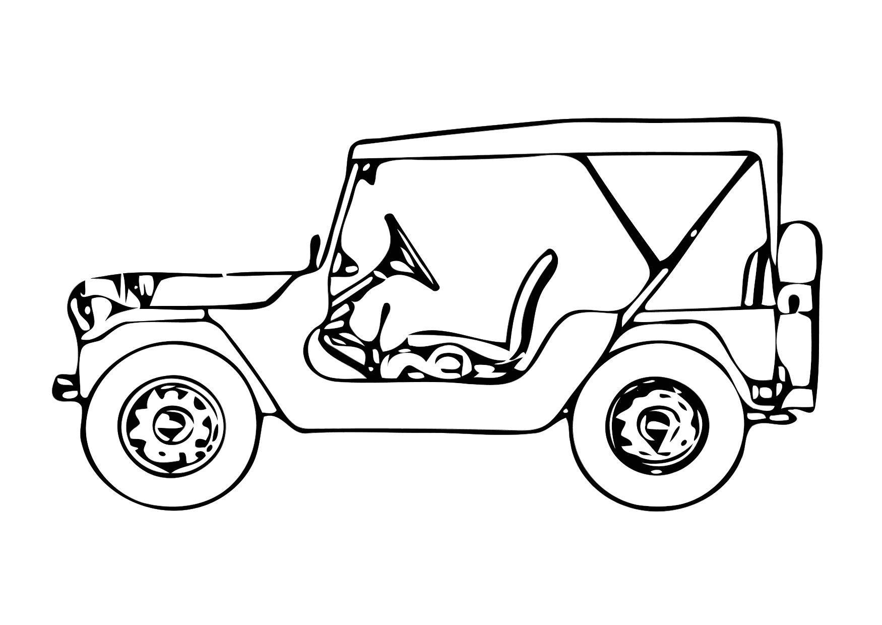 Malvorlage Jeep - Kostenlose Ausmalbilder Zum Ausdrucken - Bild 10.
