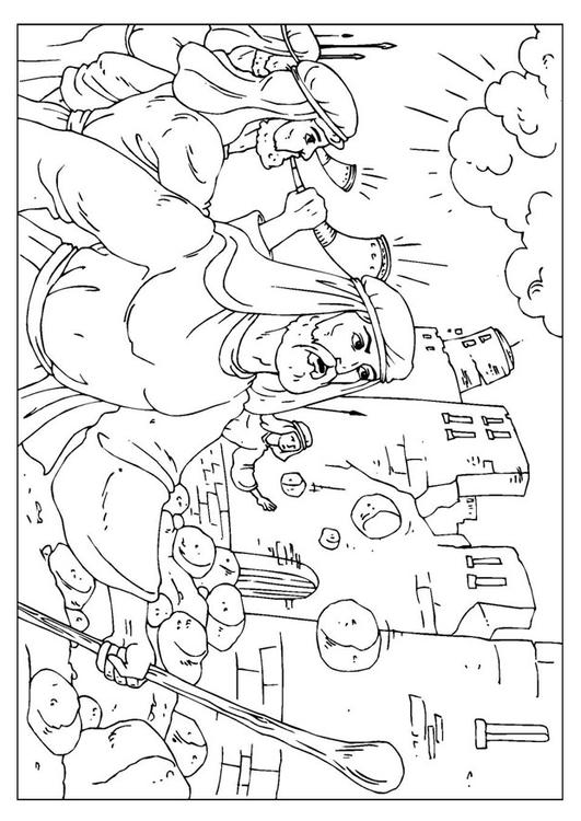 Coloring Pages For Joshua And The Wall Of Jericho : Malvorlage jericho ausmalbild