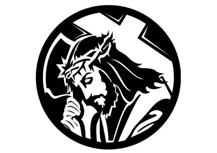 Malvorlage Jesus | Ausmalbild 24693.