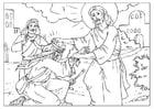 Malvorlage  Jesus heilt