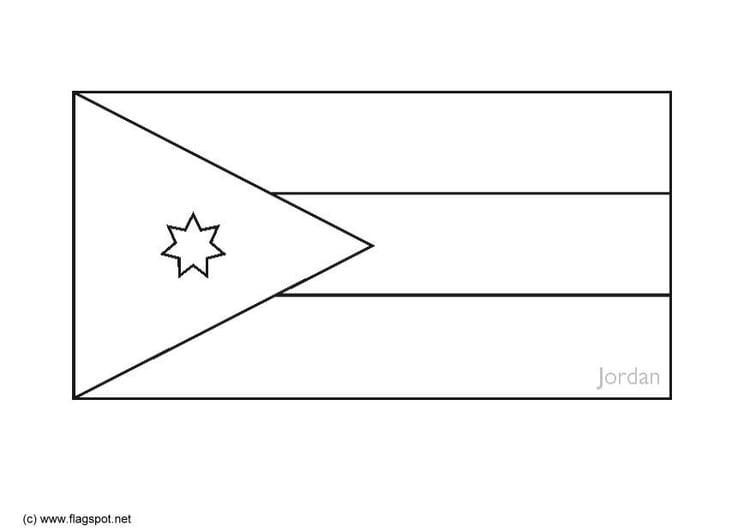 Malvorlage Jordanien | Ausmalbild 6288.