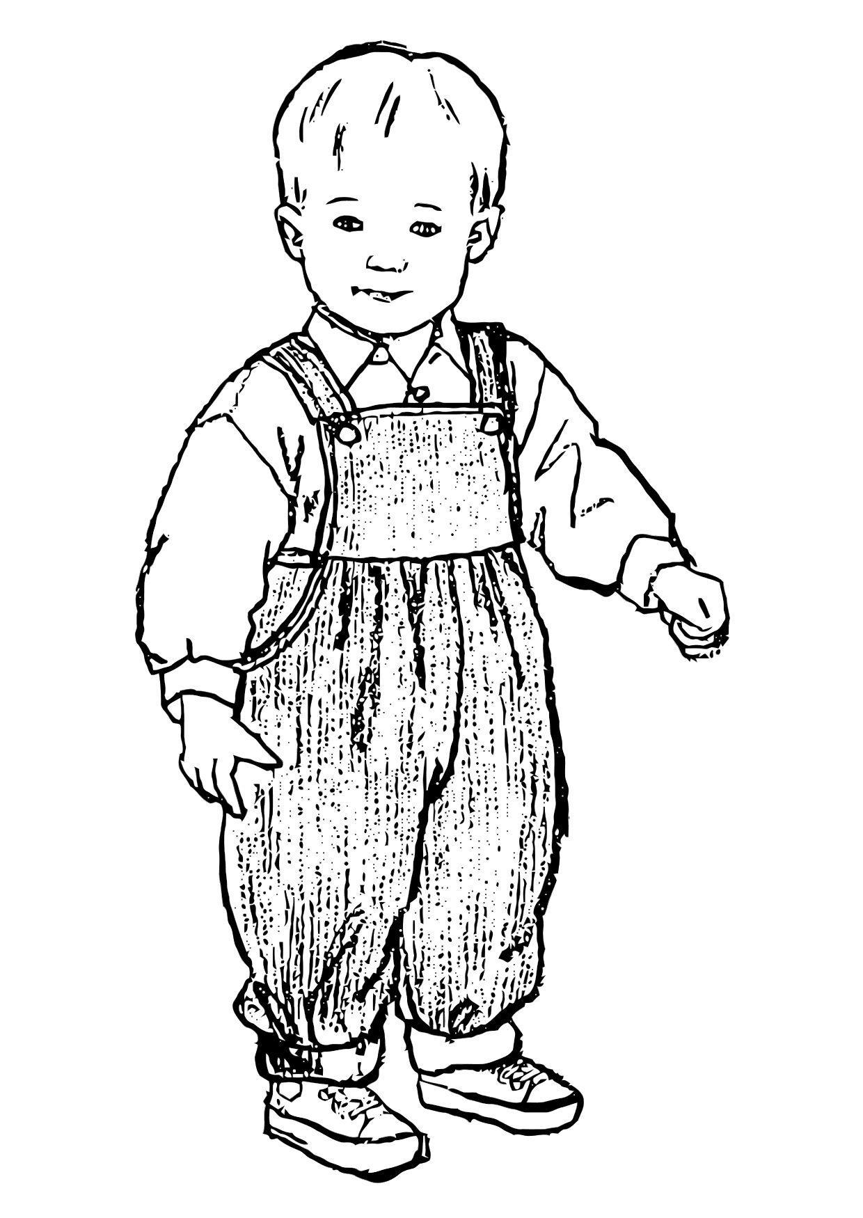 Malvorlage Junge | Ausmalbild 11876.