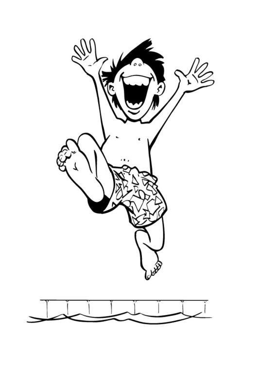 Kinder Kleurplaten Zandkasteel Malvorlage Junge Im Schwimmbad Ausmalbild 9022 Images