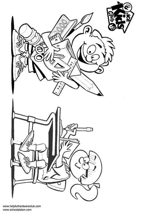 Malvorlage Junge und Mädchen | Ausmalbild 3331.