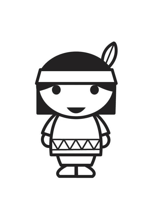 malvorlage junger indianer  kostenlose ausmalbilder zum