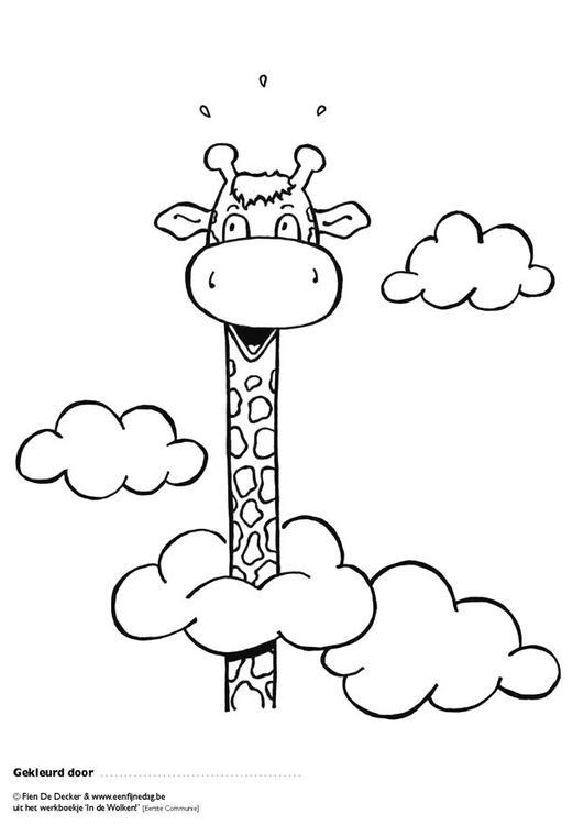 Malvorlage Juul schwebt in den Wolken | Ausmalbild 9705.