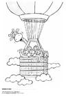 Malvorlage  Juul und seine Freunde im Ballon