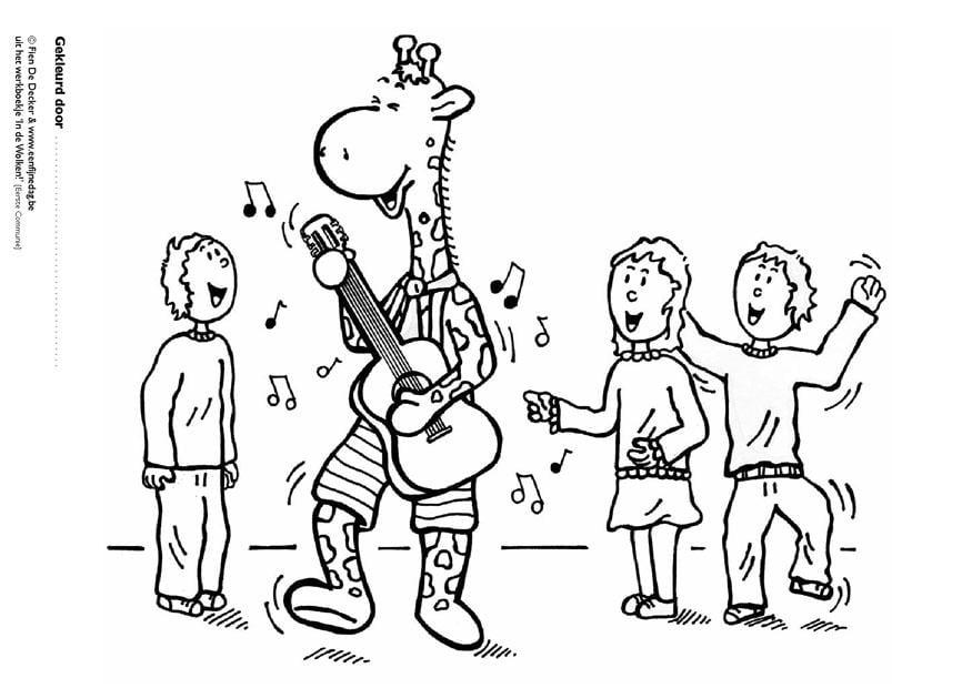 malvorlage juul und seine freunde machen musik