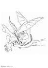 Malvorlage  kämpfende Drachen