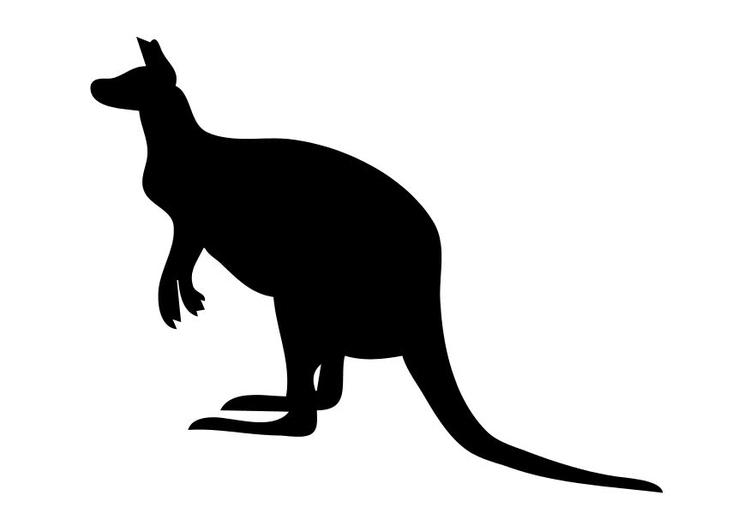 Malvorlage Känguruh Ausmalbild 10199