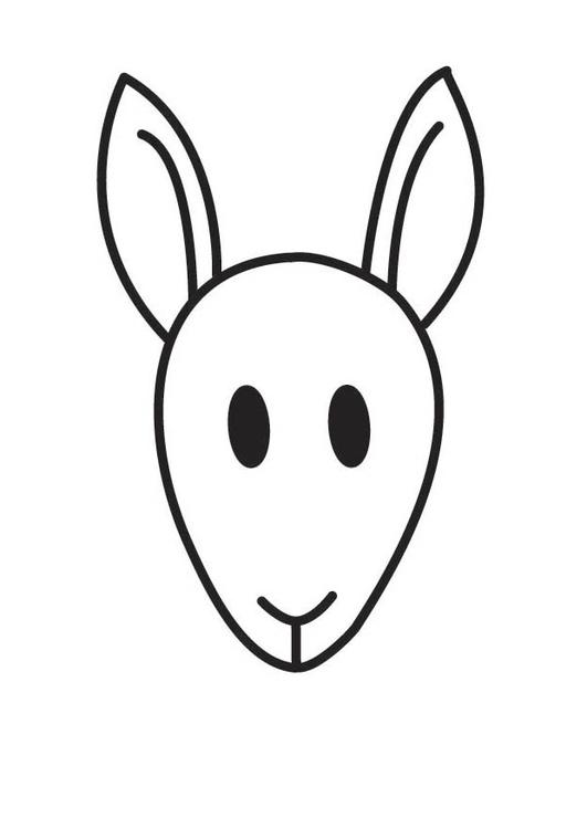malvorlage känguruhkopf  kostenlose ausmalbilder zum