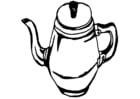 Malvorlage  Kaffeekanne