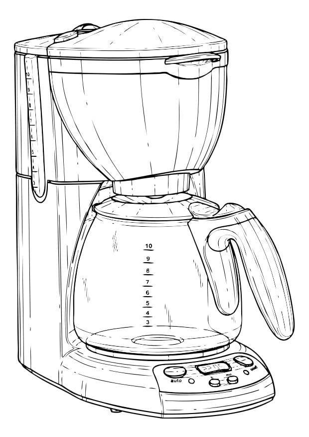 Oven Kleurplaat Malvorlage Kaffeemaschine Ausmalbild 22205 Images