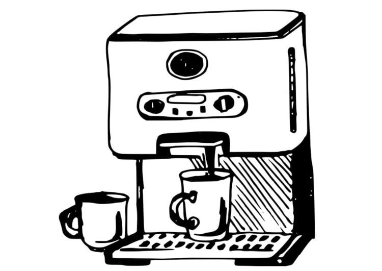 malvorlage kaffeemaschine ausmalbild 19091. Black Bedroom Furniture Sets. Home Design Ideas