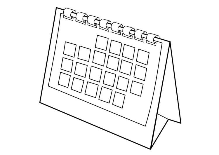 Malvorlage Kalender | Ausmalbild 29533.