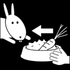 Malvorlage  Kaninchen füttern
