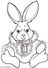 Malvorlage  Kaninchen zum Ausmalen