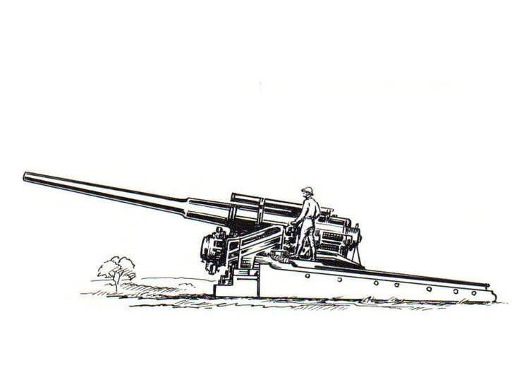 Malvorlage Kanone | Ausmalbild 18821.