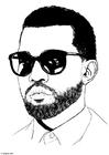 Malvorlage  Kanye West