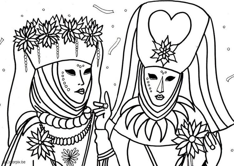 malvorlage karneval in venedig  kostenlose ausmalbilder