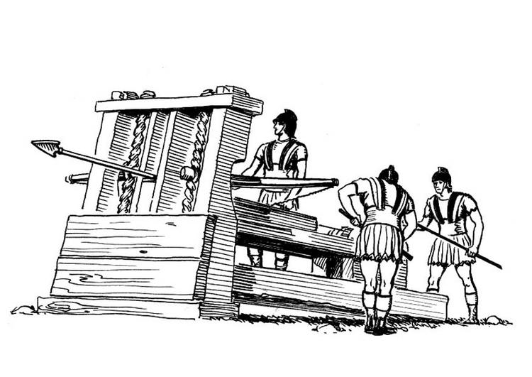 Malvorlage Katapult Ausmalbild 18966