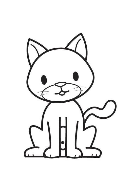 Malvorlage Katze   Ausmalbild 17601.