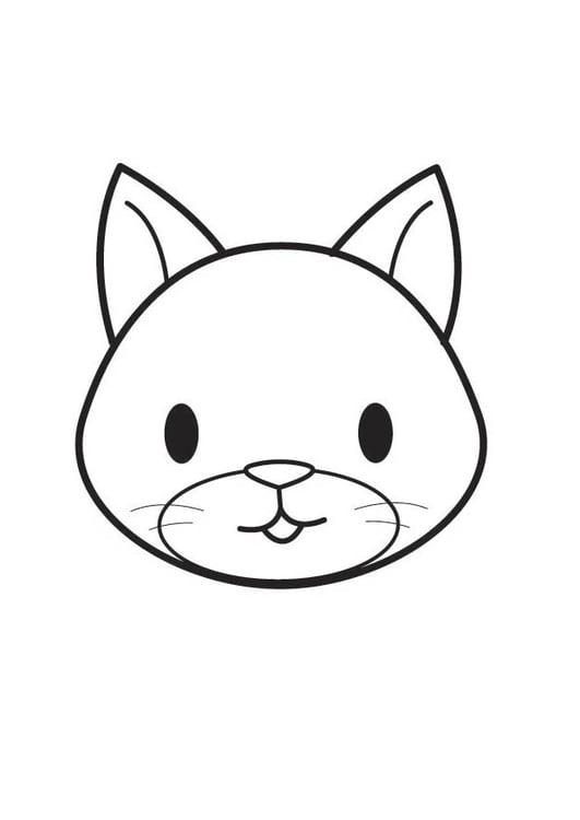 Malvorlage Katzenkopf | Ausmalbild 17756.