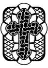 Malvorlage  keltisches Kreus