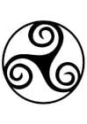 Malvorlage  Keltisches Zeichen - Triskel