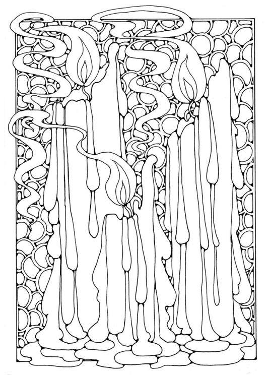 Malvorlage Kerzen Ausmalbild 16350