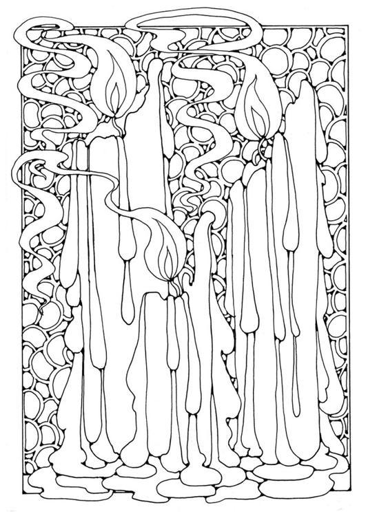 Malvorlage Kerzen Ausmalbild