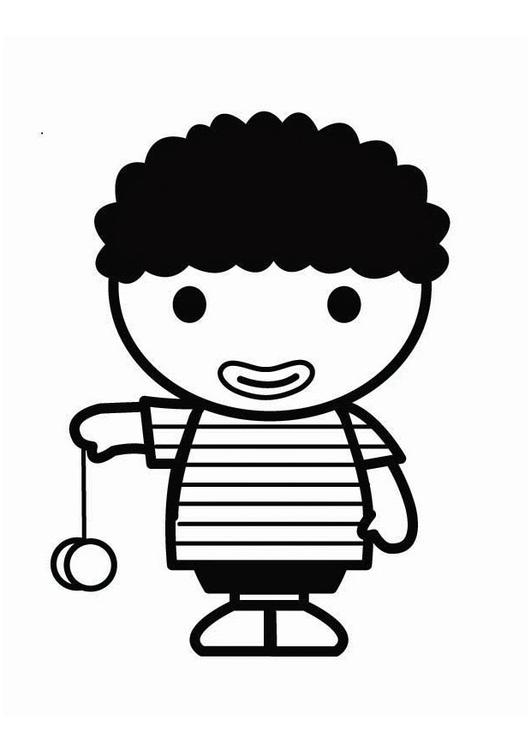 malvorlage kind mit jojo  kostenlose ausmalbilder zum