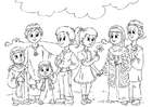 Malvorlage  Kinder aus dem Westen in Muslimkultur