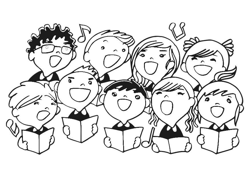 choral singing coloring pages - photo#13