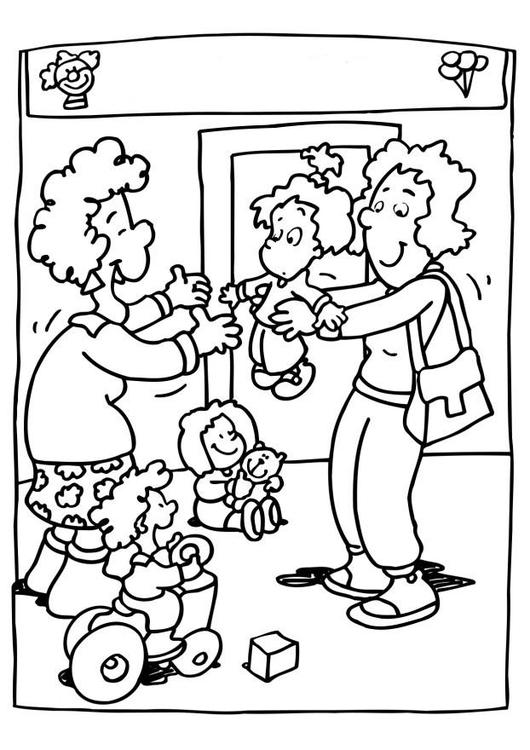 Malvorlage Kindergarten Kindertagesstätte Ausmalbild 6518