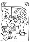 Malvorlage  Kindergarten - Kindertagesstätte