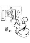Malvorlage  Kindergarten