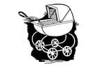 Malvorlage  Kinderwagen