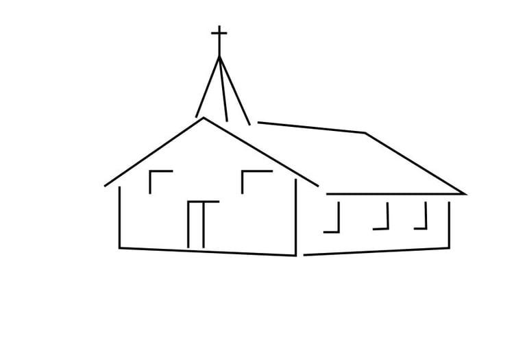 Malvorlage Kirche Ausmalbild 10112