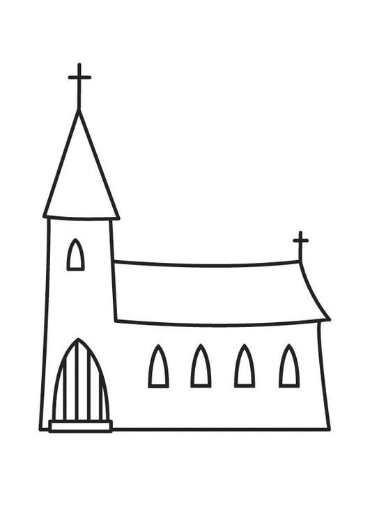 Malvorlage Kirche Ausmalbild 23136