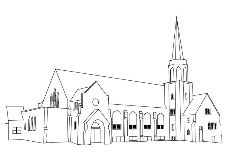 Malvorlage Kirche | Ausmalbild 27180.