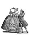 Malvorlage  Kleidung am französischen Hof 1778