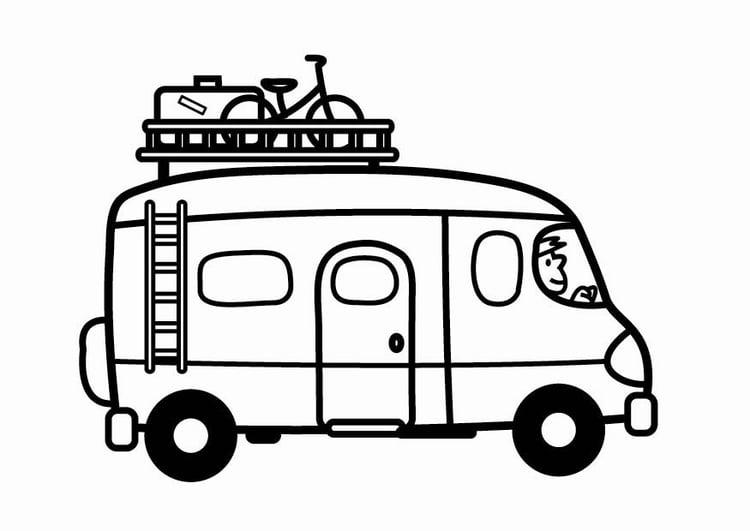 malvorlage kleinbus  kostenlose ausmalbilder zum