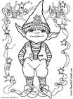Malvorlage  kleine Elfe
