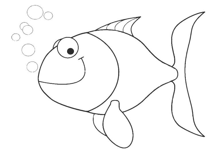 Malvorlage kleiner Fisch | Ausmalbild 20691.