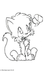 Malvorlage  kleiner Fuchs