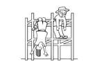 Malvorlage  Klettergerüst - Spielplatz