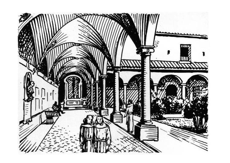 malvorlage kloster  ausmalbild 18979