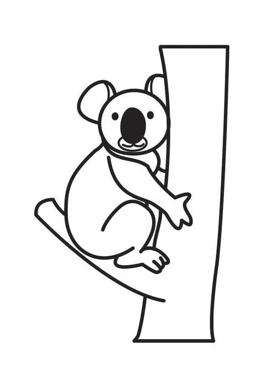 Malvorlage Koala Ausmalbild 17548