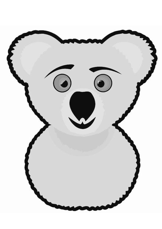 Malvorlage Koala Ausmalbild 19476